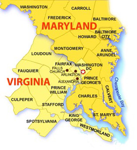 Map Of Virginia And Maryland Cities.Titanium Lock Service Maryland District Of Columbia Northern